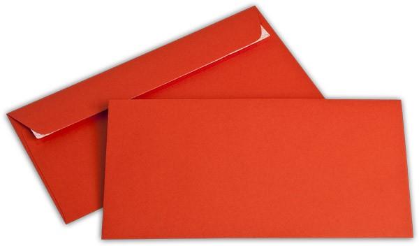 """Briefumschläge Haftstreifen """"Office Color"""" o. F. Intensivrot 114x229 mm C6/5 100g/qm"""