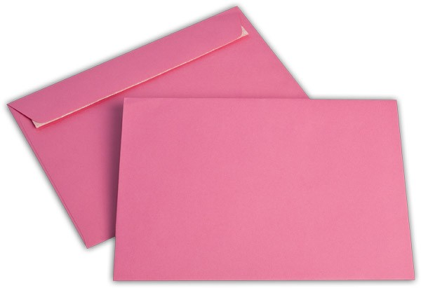 """Briefumschläge Haftstreifen """"Office Color"""" o. F. Eosinrot 162x229 mm C5 100g/qm"""