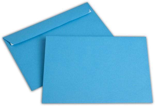"""Briefumschläge Haftstreifen """"Office Color"""" o. F. Intensivblau 162x229 mm C5 100g/qm"""