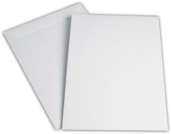 Versandtaschen Haftstreifen o. F. Weiss innen Grau chlorfrei 229x324 mm C4 100g/qm