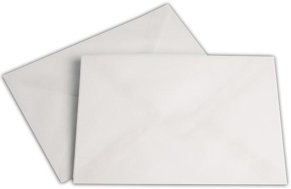 Briefumschläge transparent nassklebend o. F. Weiss 162x229 mm C5 92g/qm