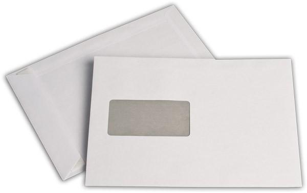 Versandtaschen Haftstreifen m. F. Weiss innen Grau chlorfrei 162x229 mm C5 90g/qm