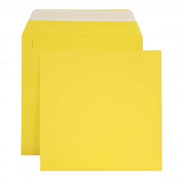 """Briefumschläge Haftstreifen """"Creativ Color"""" o. F. Intensivgelb 160x160 mm 120g/qm"""