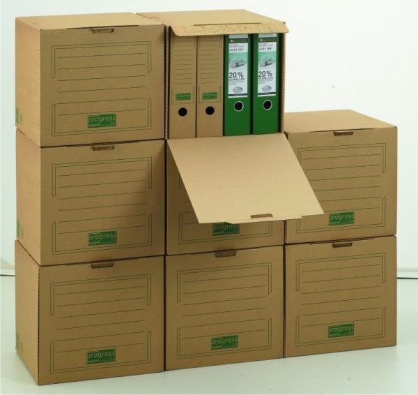 PREMIUM Archiv-Cube 343x310x336 aus Wellpappe braun