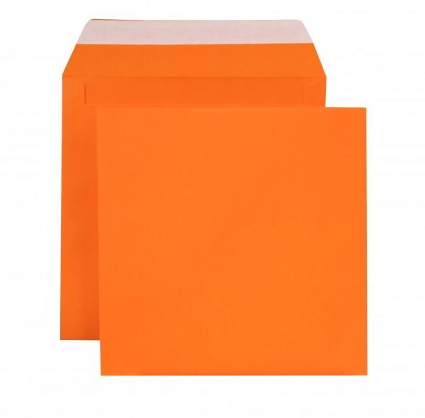 """Briefumschläge Haftstreifen """"Creativ Color"""" o. F. Orange 160x160 mm 120g/qm"""