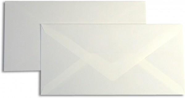 Briefumschläge Opaline Weiss leinen o. F. 110x220 mm DL 110g/qm