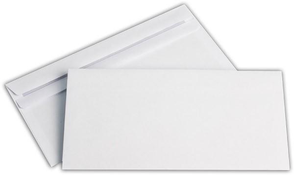 Briefumschläge o. F. Weiss innen Grau chlorfrei 110x220 mm DL 80g/qm