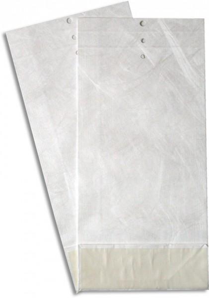 Tyvek Musterbeutel gerillt und gelocht Weiss 140x300 mmm Falte 50 mm M14