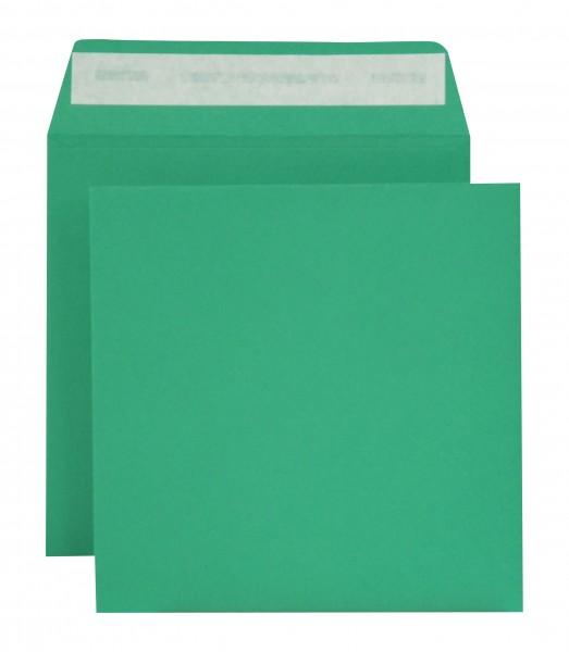 """Briefumschläge Haftstreifen """"Creativ Color"""" o. F. Grün 160x160 mm 120g/qm"""
