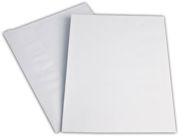 Elco Faltenhüllen Spitzboden und Haftstreifen Weiss Streifen Seitenfalte: 2cm FSC 229x324 mm C4 120