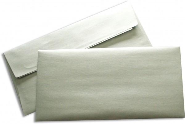 Briefumschläge Haftstreifen Silber Weisses Seidenfutter chlorfrei Sattelv. 110x220 mm DL 100g/qm