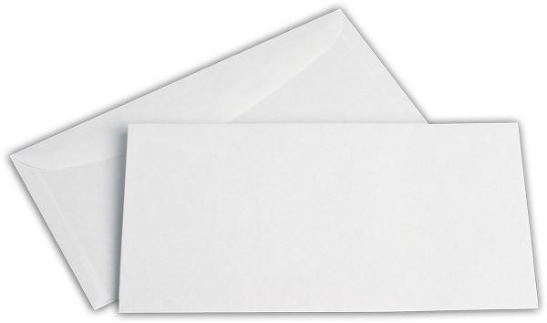 Kuvertierhüllen o. F. Weiss innen Grau chlorfrei 120x235 mm 80g/qm