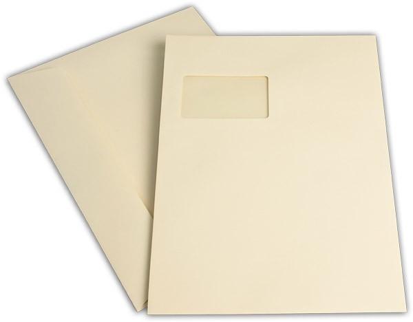 """Briefumschläge mit Haftstreifen """"Office Color"""" m. F. Hellchamois 229x324 mm C4 120g/qm"""