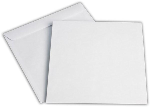 Kuvertierhüllen o. F. Weiss chlorfrei 220x220 mm 100g/qm