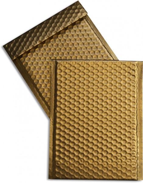 Metallic Bubble Bags Haftstreifen Gold matt Luftpolster 170x245 mm
