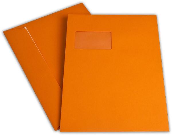 """Briefumschläge mit Haftstreifen """"Office Color"""" m. F. Orange 229x324 mm C4 120g/qm"""