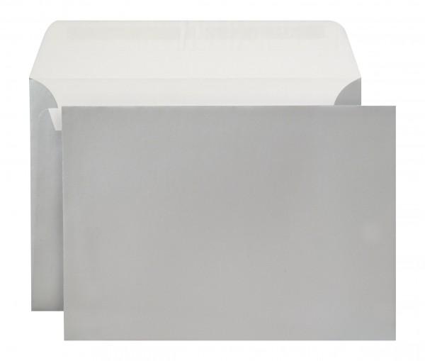 Briefumschläge Haftstreifen metallic o. F. Silber chlorfrei 162x229 mm C5 130g/qm
