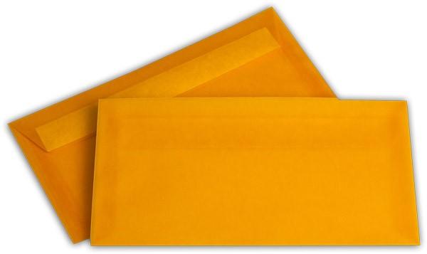 Briefumschläge transparent Haftstreifen o. F. Intensivorange 110x220 mm DL 100g/qm