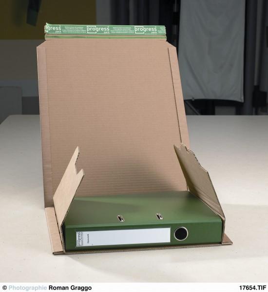Ordner-Versandverpackung PREMIUM 370x297x -90 aus Wellpappe braun