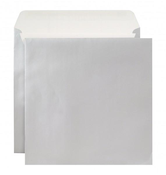 Briefumschläge Haftstreifen metallic o. F. Silber chlorfrei 220x220 mm 130g/qm