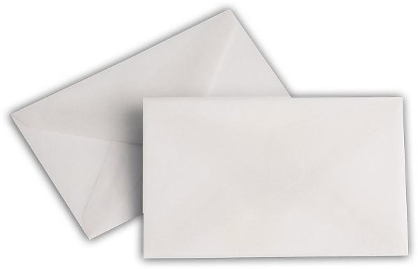 Briefumschläge transparent nassklebend o. F. Weiss 62x98 mm 92g/qm