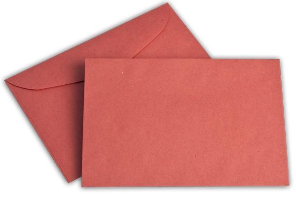 Briefumschläge nassklebend o. F. Rot 114x162 mm C6 75g/qm