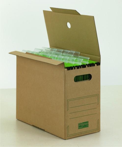 PREMIUM Hänge-Transpoprtbox 100 65 340x365x285 aus Wellpappe mit Automatikboden braun