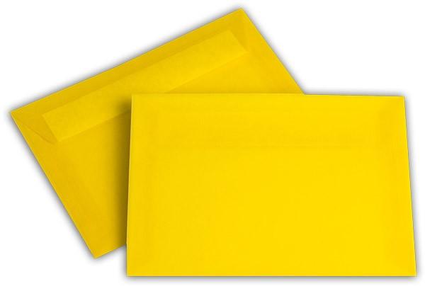 Briefumschläge transparent Haftstreifen o. F. Intensivgelb 114x162 mm C6 100g/qm