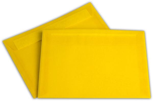 Briefumschläge transparent Haftstreifen o. F. Intensivgelb 162x229 mm C5 100g/qm