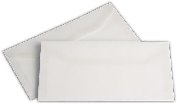 Briefumschläge nassklebend o. F. Weiss transparent 110x220 mm DL 100g/qm