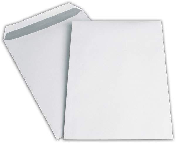 Versandtaschen o. F. Weiss innen Grau chlorfrei 229x324 mm C4 100g/qm