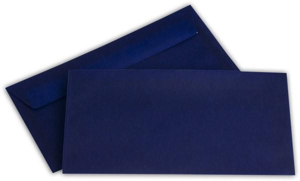 Briefumschläge transparent Haftstreifen o. F. Intensivblau 110x220 mm DL 100g/qm