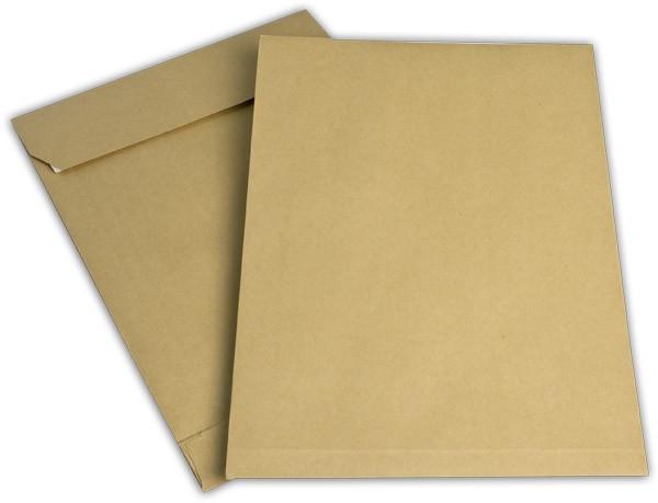 Faltentaschen mit Seiten- und Bodenfalte Braun Natron 250x353 mm Falte 40 mm B4 150g/qm