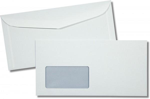 Kuvertierhüllen m. F. Weiss innen Grau ASK Inkprint 114x229 mm C6/5 85g/qm