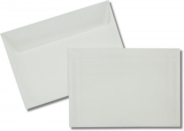 Briefumschläge transparent nassklebend o. F. Weiss 114x162 mm C6 92g/qm