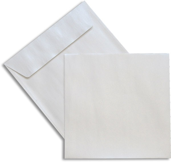 Pearls Briefhüllen Haftstreifen Weiss Pearl 170x170 mm 100g/qm