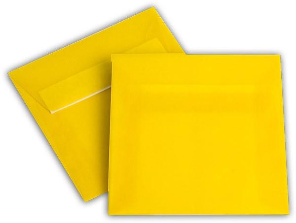 Briefumschläge transparent Haftstreifen o. F. Intensivgelb 125x125 mm 100g/qm