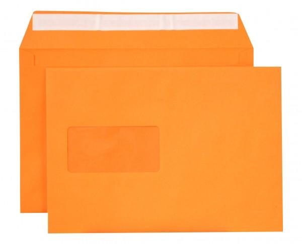 """Briefumschläge Haftstreifen """"Creative Color"""" m. F. Orange chlorfrei 162x229 mm C5 120g/qm"""