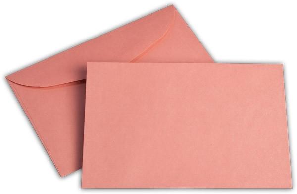 Briefumschläge nassklebend o. F. Rosa innen Weiss 125x176 mm B6 75g/qm