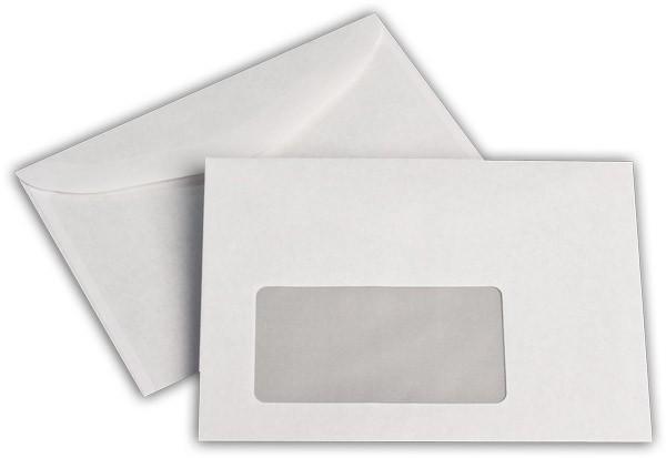 Kuvertierhüllen m. F. Weiss innen Grau chlorfrei 114x162 mm C6 75g/qm
