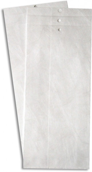 Tyvek Musterbeutel gerillt und gelocht Weiss 120x300 mmm Falte 50 mm M12