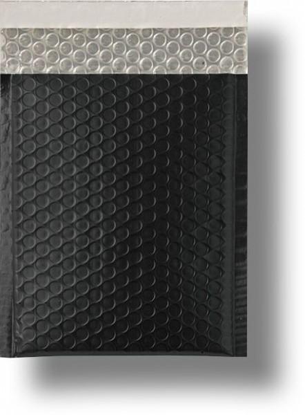 Metallic Bubble Bags Haftstreifen Schwarz matt Luftpolster 170x245 mm
