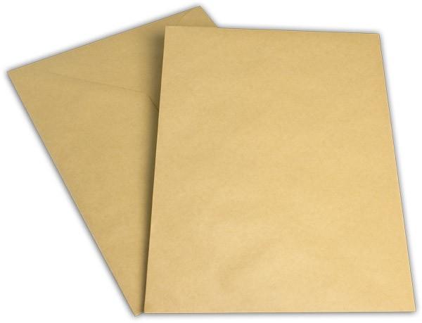 Versandtaschen ungummiert o. F. Braun Natron 250x353 mm B4 130g/qm