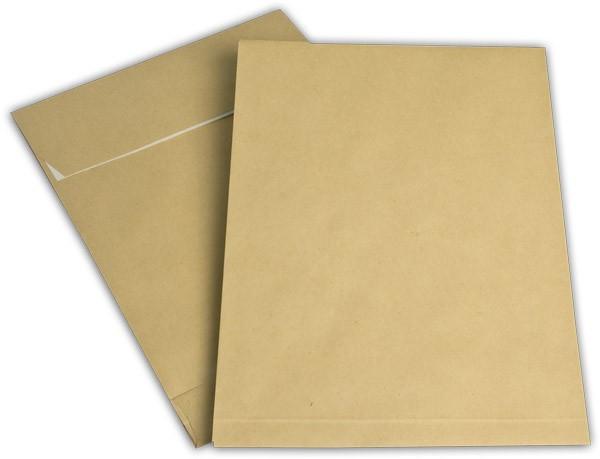 Faltentaschen mit Seiten- und Bodenfalte Braun Natron 229x324 mm Falte 40 mm C4 130g/qm