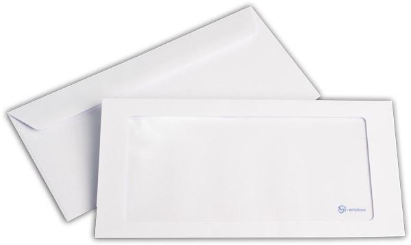 Briefumschläge mit Panoramafenster Weiss nassklebend chlorfrei 114x229 mm C6/5 100g/qm