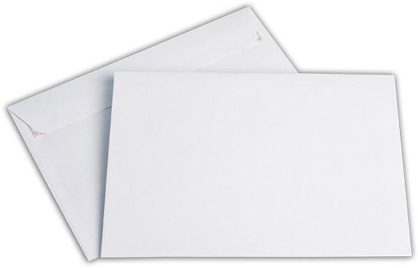 Briefumschläge Haftstreifen o. F. Weiss chlorfrei FSC 176x250 mm B5 100 g/qm
