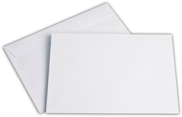 Briefumschläge Haftstreifen o. F. Weiss chlorfrei FSC 162x229 mm C5 100 g/qm