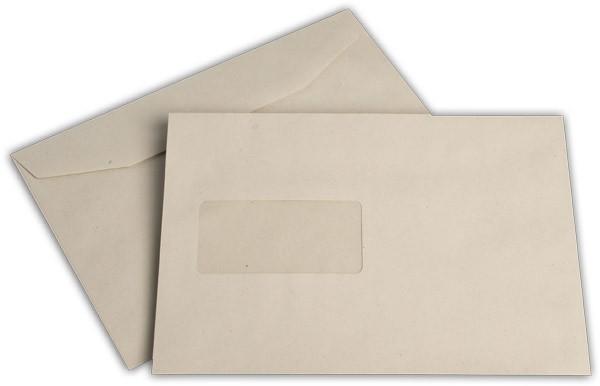 Kuvertierhüllen m. F. Grau 162x229 mm C5 80g/qm