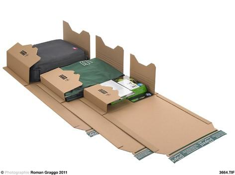 Universal-Versandverpackung ECO 300x175x -75 zum Wickeln braun
