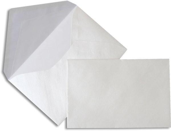 Pearls Briefhüllen nassklebend Seidenfutter Weiss Pearl 120x180 mm 90g/qm